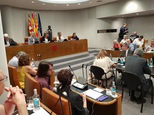En el Pleno de la Diputación de hoy se han abordado problemáticas de índole nacional.