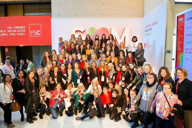 La presencia de mujeres del Baix en el PSC crece.