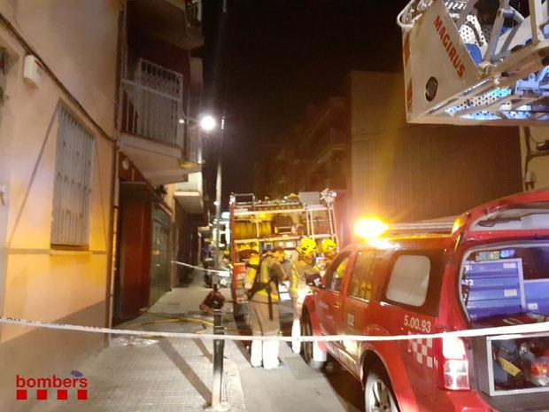 Incendio en una vivienda de Cornellà
