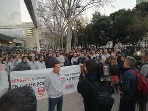 La manifestación del martes ante el consulado de Japón.