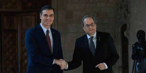 Sánchez y Torra han mantenido hoy un encuentro en el Palau de la Generalitat.