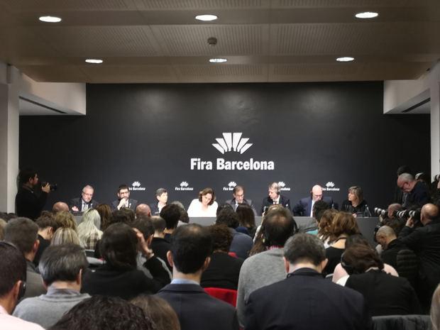 La rueda de prensa se ha celebrado esta mañana en el recinto de Fira de Barcelona en Montjuïc.