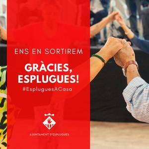 Esplugues convida als ciutadans a participar en les xarxes socials amb l'etiqueta #EspluguesACasa