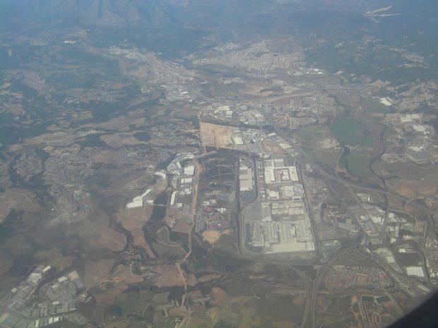 Vista aérea de la planta de Seat en Martorell