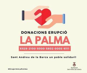 El Ayuntamiento de Sant Andreu de la Barca inicia una campaña solidaria para ayudar a los ciudadanos de La Palma