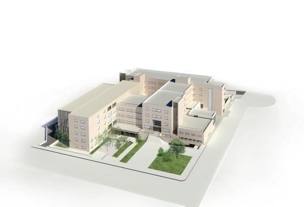 Imagen virtual de cómo será el futuro hospital.