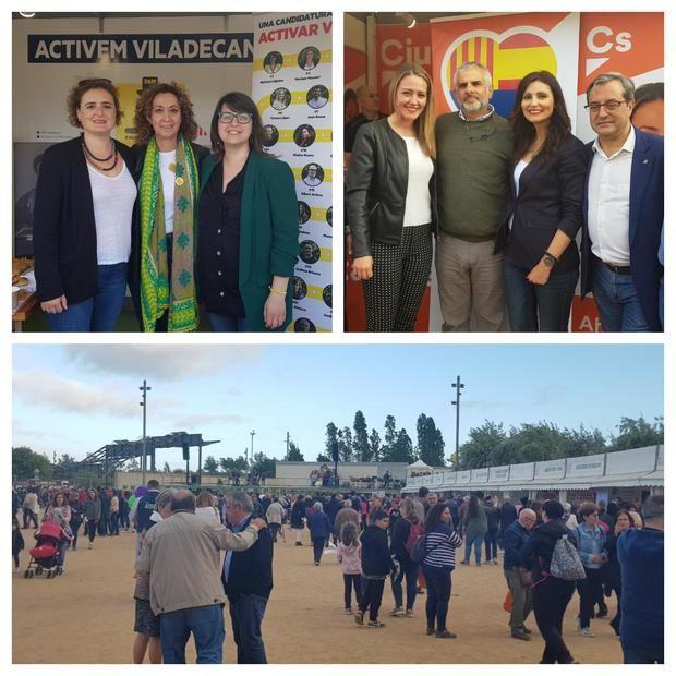 Desfile político en el primer día de la Fira de Sant Isidre de Viladecans