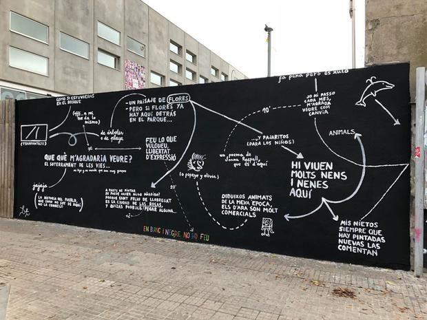 La nueva pintura urbana del proyecto 12+1 en Sant Feliu.