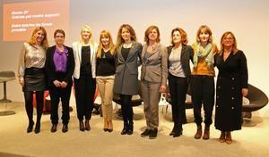 Las integrantes del grupo de trabajo, el primer paso hacia la creación del Consejo de la Mujer.