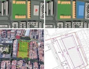 Diversos planos del futuro polideportivo de santa eulàlia