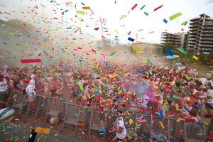 Holi Festival el año pasado en el marco de la Fiesta Mayor de Sant Joan Despí.