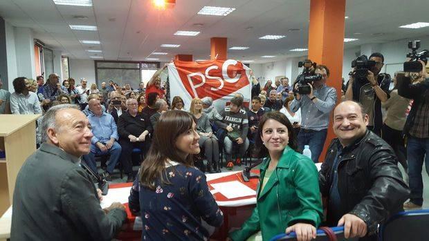 El PSC del Baix se vuelca con Pedro Sánchez
