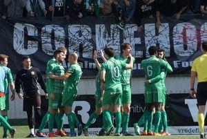 La Unió Esportiva Cornellà con su característico color verde.