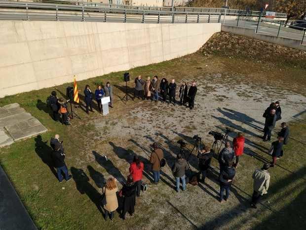 Rueda de prensa de presentación del proyecto de nuevos juzgados sobre el terreno.