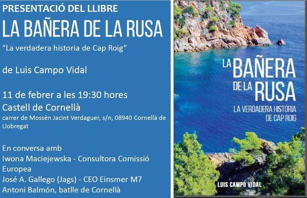 'La Bañera de la Rusa', la nueva novela de Luis Campo Vidal, se presenta en Cornellà