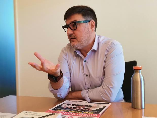 Mijoler, durante una entrevista con El Llobregat.