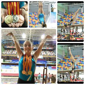 Caballero i Puig també brillen al Campionat d'Espanya de Gimnàstica