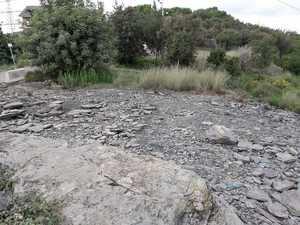 El yacimiento tras el destrozo.