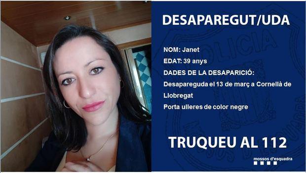 Janet Jumillas, desaparecida en Cornellà.