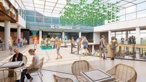Una imagen virtual de cómo quedará el interior del centro comercial de La Farga.