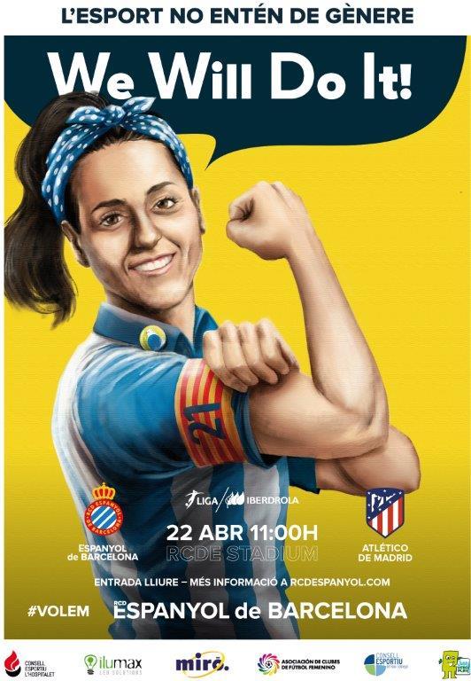 El Espanyol y el Atlético de Madrid femenino jugarán un partido de liga en Cornellà-El Prat