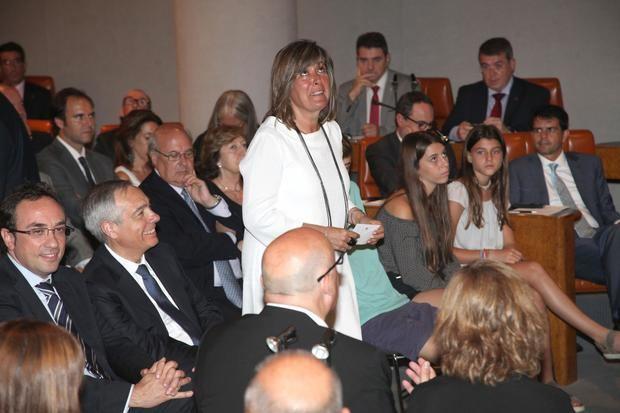 Núria Marín en la toma de posesión de la Diputación hace cuatro años.