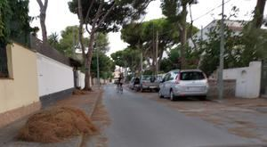 Esta imagen ha sido el panorama de muchas calles de Castelldefels en los últimos días.