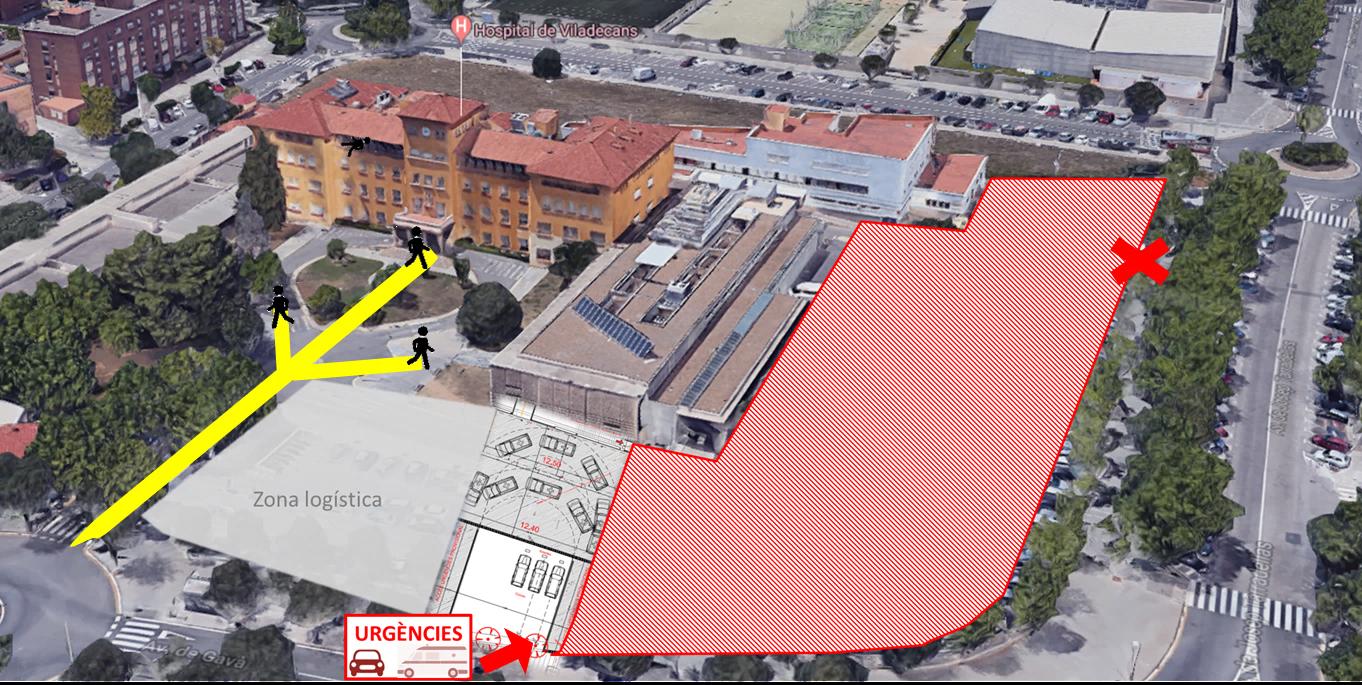 Plano de la zona afectada por las obras.