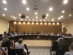 Una sesión plenaria celebrada en la comarca.