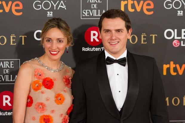 Tajuelo y Rivera en la gala de los Goya 2018.