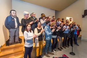 Rueda de prensa de presentación de Junts x Sant Vicenç, la candidatura en la que se inscribe ERC y Vicentins pel Canvi.