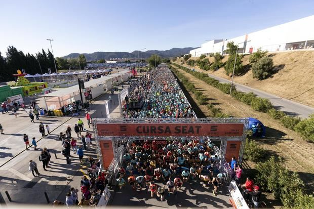 Salida de la carrera, en la que participaron unas 6.000 personas.