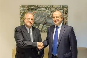 Daniel Calleja, director de Medio Ambiente de la Comisi�n Europea, visita la Fira de Barcelona