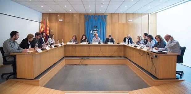 Trobada d'alcaldes a l'Ajuntament de Castellbisbal