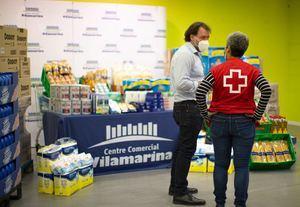 Vilamarina fa donació de tres tones d'aliments i productes de primera necessitat a Creu Roja