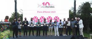 Sant Feliu consigue por tercer año consecutivo las cuatro flores de Honor de Viles Florides