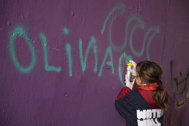 Arte juvenil para evitar pintadas en el depósito de agua de Sant Pere Màrtir