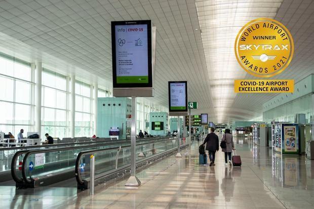 El Aeropuerto Josep Tarradellas Barcelona-El Prat galardonado con el premio 'COVID-19 Airport Excellence Awards'