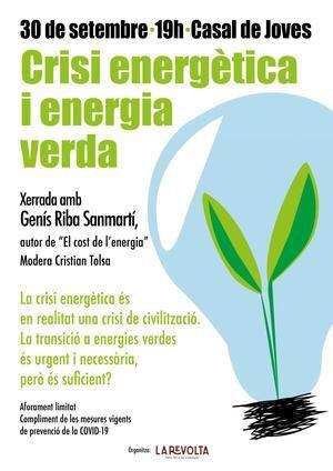 La Asociación La Revolta organiza una charla sobre la crisis energética