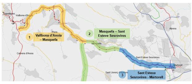 Territori presenta las mejoras para las conexiones por carretera entre el Baix Llobregat Nord y el Anoia