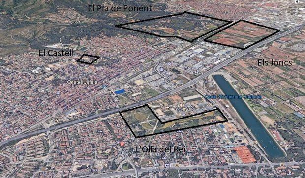 Próximas actuaciones de urbanización en Gavà y Castelldefels, entre las que se encuentra el Pla de Ponent