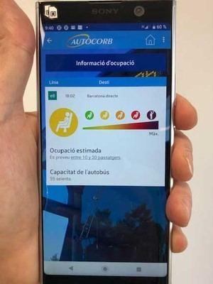 Los usuarios de la línea Corbera-Barcelona (E8) podrán conocer la ocupación de los autobuses con una app