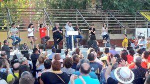 Aragonès durante su participación en la  Diada Republicana.