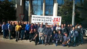 Els treballadors de la companyia ja es van manifestar al 2014 per demanar la readmissi� de dos empleats