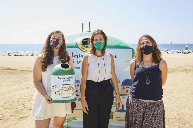 Castelldefels obtiene la bandera verde de Ecovidrio