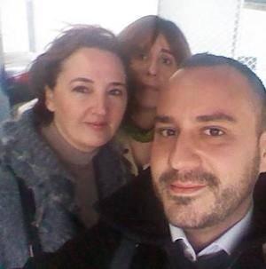Laura Benito (izquierda), junto a Javier Hernández Mederos y Laura de Lucas, los tres cargos que se han dado de baja de Ciutadans