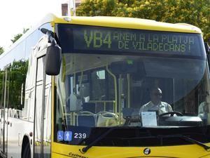 Línea temporal de Vilabús 4 (VB4) durante la temporada de verano.