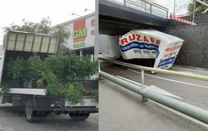 Un camión se empotra en un túnel de Gavà y deja al descubierto un cargamento de marihuana