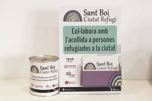 La Asociación de Sant Boi Comerç participa en la campaña de personas refugiadas en la ciudad