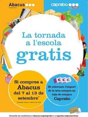 Caprabo, empresa col·laboradora amb El Llobregat, i Abacus regalen la compra